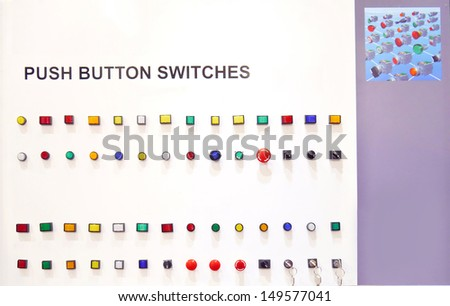 Sample switch  factory in exhibition. - stock photo