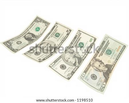 Sample Us Bills - stock photo