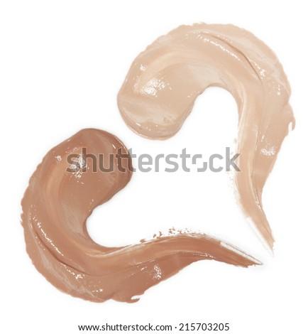 Samples foundation isolated on white background - stock photo