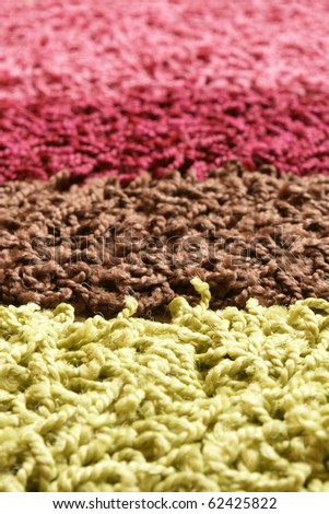 Samples of collection carpet, for backgrounds or textures - stock photo