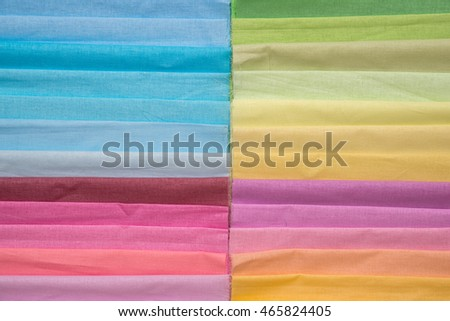 Samples of colorful fabric texture
