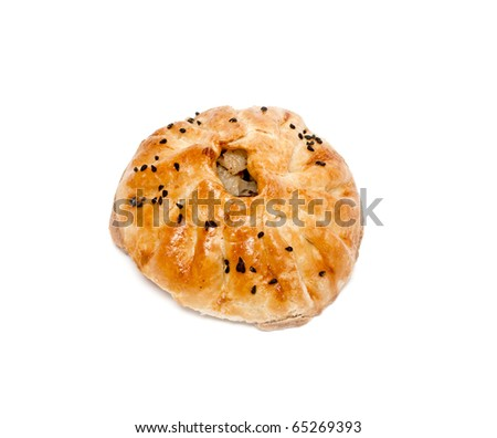 Samsa - pirogi from middle Asia - stock photo