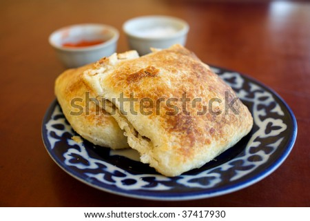 Samsa, Traditional Uzbek Food - stock photo