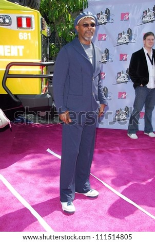 Samuel L. Jackson arriving at the 2007 MTV Movie Awards. Gibson Amphitheatre, Universal City, CA. 06-03-07 - stock photo