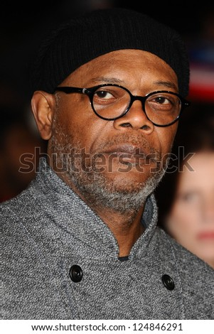 """Samuel L Jackson arriving for the """"Django Unchained"""" premiere, Empire Leicester Square, London. 10/01/2013 Picture by: Steve Vas - stock photo"""