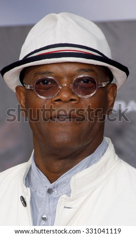 "Samuel L. Jackson at the Los Angeles premiere of ""The Avengers"" held at the El Capitan Theater in Hollywood, USA on April 11, 2012."