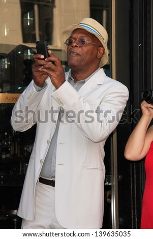 Samuel L. Jackson at the Steve Harvey Star on the Hollywood Walk of Fame, Hollyood, CA 05-13-13 - stock photo