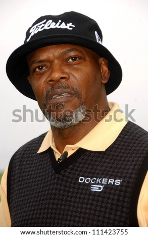 Samuel L. Jackson at The 9th Annual Michael Douglas and Friends Celebrity Golf Event. Trump National Golf Club, Rancho Palos Verdes, CA. 04-29-07 - stock photo