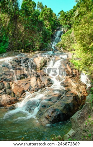 Samui waterfalls - stock photo
