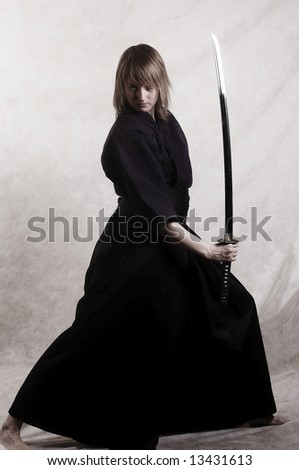 samurai - stock photo