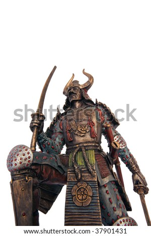 Samurai sculpture - stock photo