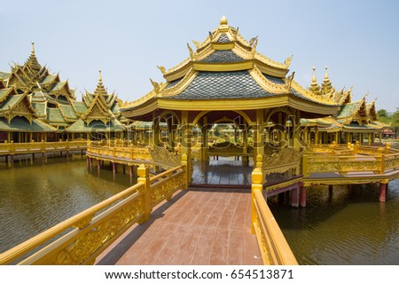 SAMUT PRAKAN, THAILAND, MARCH, 6, 2017 - Pavilion of the enlightened in Ancient City Park, Muang Boran, Samut Prakan province, Thailand