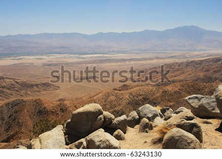 san andreas fault zone - stock photo