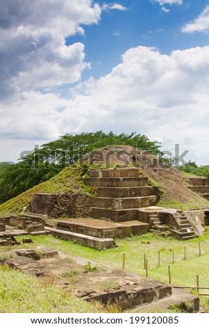 San Andres ruins, El Salvador, Central America - stock photo