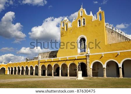San Antonio De Padua convent, Izamal, Mexico - stock photo