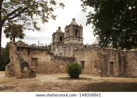 San Antonio Missions National Historical Park/ Missions/ Four missions make this National Historical Park: Concepcion, San Jose Y San Miguel de Aguayo, San Juan Capistrano, San Francisco de la Espada - stock photo