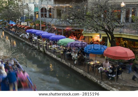 San Antonio riverwalk - stock photo