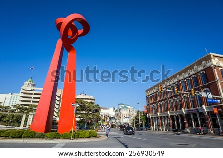 SAN ANTONIO, TEXAS, USA - SEP 27: Downtown of San Antonio, Texas on September 27, 2014 It was the fastest growing of the top 10 largest cities in the United States from 2000 to 2010  - stock photo