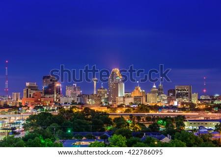San Antonio, Texas, USA skyline. - stock photo