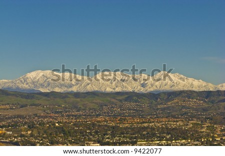 San Bernardino Mountains with Snow during Winter