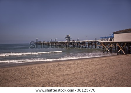 San Clemente Pier - stock photo
