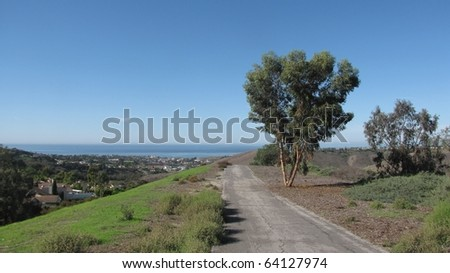 San Clemente Ridgeline Trail in south Orange County, CA - stock photo