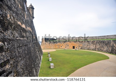 San Cristobal Fort, Old San Juan (Puerto Rico) - stock photo