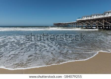 San Diego Beach. Pacific to the horizon - stock photo