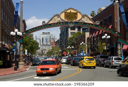 SAN DIEGO , CA - APRIL 27 :Historic heart of San Diego, California, on April 27  2014  - stock photo