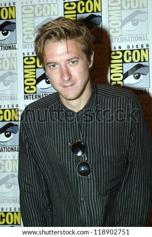 SAN DIEGO, CA - JULY 15: Arthur Darvill arrives at the 2012 Comic Con convention press room at the Bayfront Hilton Hotel on Sunday, July 15, 2012 in San Diego, CA. - stock photo