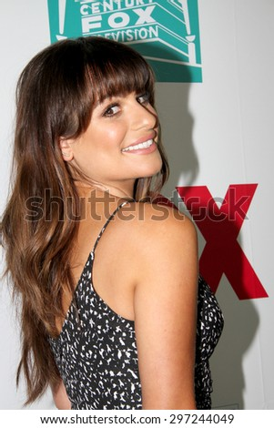 SAN DIEGO, CA - JULY 10: Lea Michele arrives at the 20th Century Fox/FX Comic Con party at the Andez hotel on July 10, 2015 in San Diego, CA. - stock photo