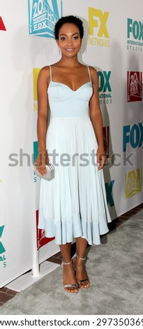 SAN DIEGO, CA - JULY 10: Lyndie Greenwood arrives at the 20th Century Fox/FX Comic Con party at the Andez hotel on July 10, 2015 in San Diego, CA. - stock photo
