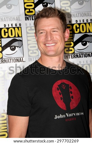 "SAN DIEGO, CA - JULY 9: Phillip Wnchester arrives at the 2015 Comic Con press room for ""The Player"" at the Hilton San Diego Bayfront hotel on July 9, 2015 in San Diego, CA. - stock photo"