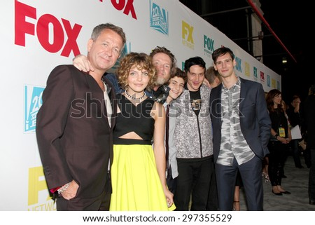 "SAN DIEGO, CA - JULY 10: The cast of ""Gotham"" arrives at the 20th Century Fox/FX Comic Con party at the Andez hotel on July 10, 2015 in San Diego, CA. - stock photo"