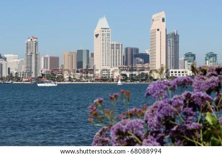 San Diego, California Downtown - stock photo