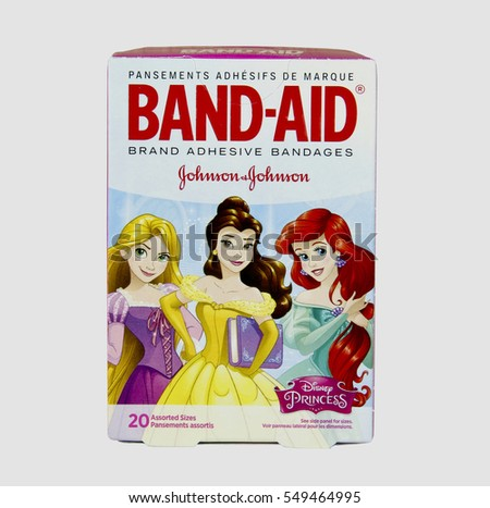 San Diego, California, Janruary, 5, 2017   Box of Band-Aid adhesive bandages   Band-Aid is a line of medical products under Johnson & Johnson and was founded in 1920