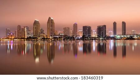 San Diego California West Coast United States City Skyline - stock photo