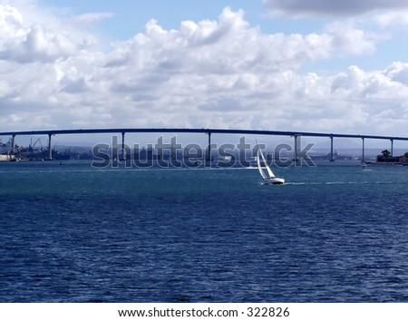 San Diego-Coronado Bridge - stock photo