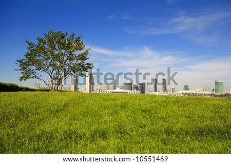San Diego Downtown skyline - stock photo