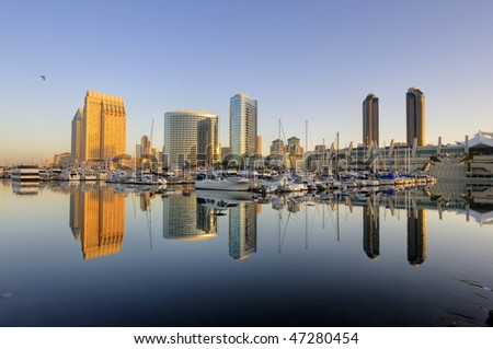 San Diego downtown skyline and convention center - stock photo