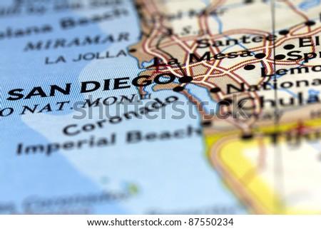 San Diego in California, USA - stock photo