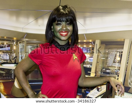 SAN DIEGO - JULY 23: A fan dresses up as a Star Trek character for Comic-Con - Day 1 on July 23, 2009 in San Diego, CA - stock photo