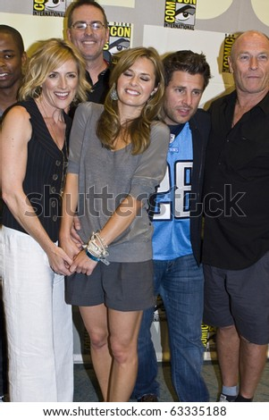 SAN DIEGO - JULY 22: James Roday, Maggie Lawson, Kirsten Nelson, and Corbin Bernsen of Psych attend Comic-Con - Day 1 on July 22, 2010 in San Diego, California.