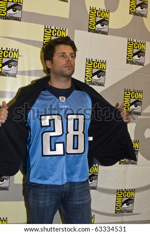 SAN DIEGO - JULY 22: James Roday of Psych attends Comic-Con 2010 - Day 1 on July 22, 2010 in San Diego, California. - stock photo