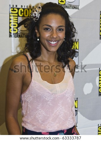 SAN DIEGO - JULY 22: Marsha Thomason of White Collar attends Comic-Con 2010 - Day 1 on July 22, 2010 in San Diego, California. - stock photo