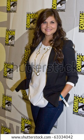 SAN DIEGO - JULY 22: Tiffani Amber Thiessen of White Collar attends Comic-Con 2010 - Day 1 on July 22, 2010 in San Diego, California. - stock photo