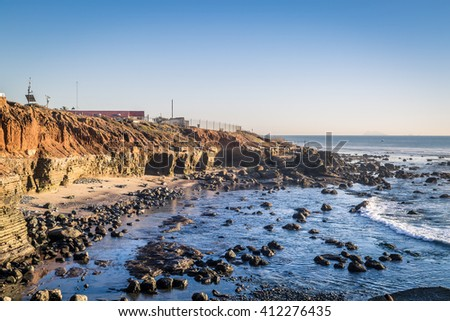 San Diego Point Loma tide pool 2 - stock photo