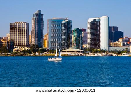 San Diego skyline - stock photo