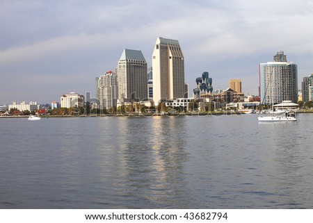 San Diego skyline. - stock photo