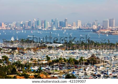 San Diego Skyline On A Foggy Day